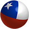 Ball in the colors of the Chilean flag